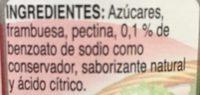 MC CORMICK MERMELADA DE FRAMBUESA - Ingrédients - es