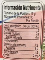 MC CORMICK MERMELADA DE FRAMBUESA - Informations nutritionnelles - es