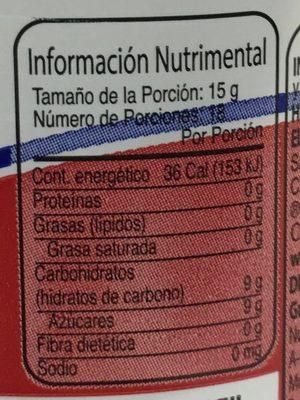 McCormick Mermelada de Fresa - Voedingswaarden
