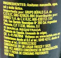 Aceitunas deshuesadas Búfalo - Ingredients - es