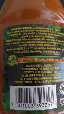 Bufalo Botanera 1 LT. - Ingredients - es