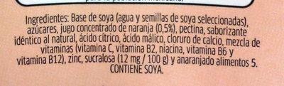 Ades sabor naranja - Ingrédients