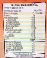 Ades sabor naranja - Informations nutritionnelles