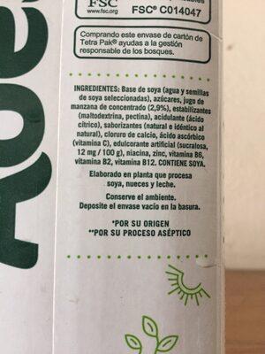 Ades - Ingredientes - es