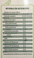 Ades Soya con jugo de Mango - Informations nutritionnelles