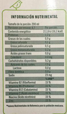 Ades Soya con jugo de Mango - Voedingswaarden