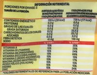 Fécula de maiz para preparar atole fortificado sabor fresa - Informations nutritionnelles - es