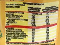 Fécula de maíz para preparar atole fortificado - Informations nutritionnelles - es
