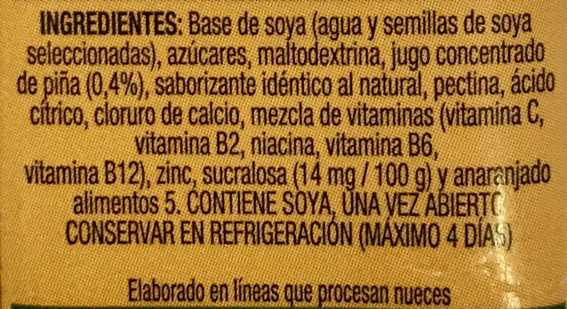 Ades Max - Ingredientes - es