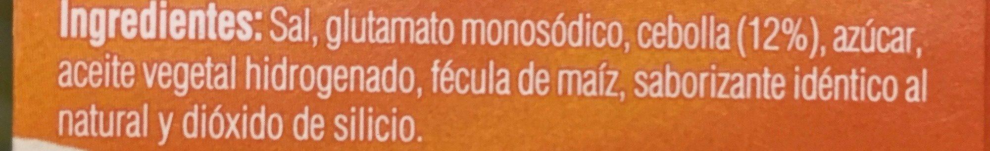 MINI CUBOS CEBOLLA - Ingredients - es