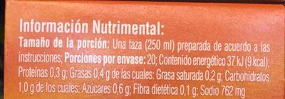 MINI CUBOS CEBOLLA - Nutrition facts - es