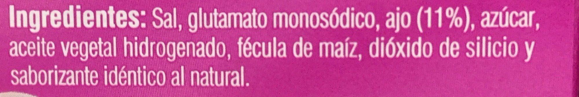 MINI CUBOS AJO - Ingredients - es