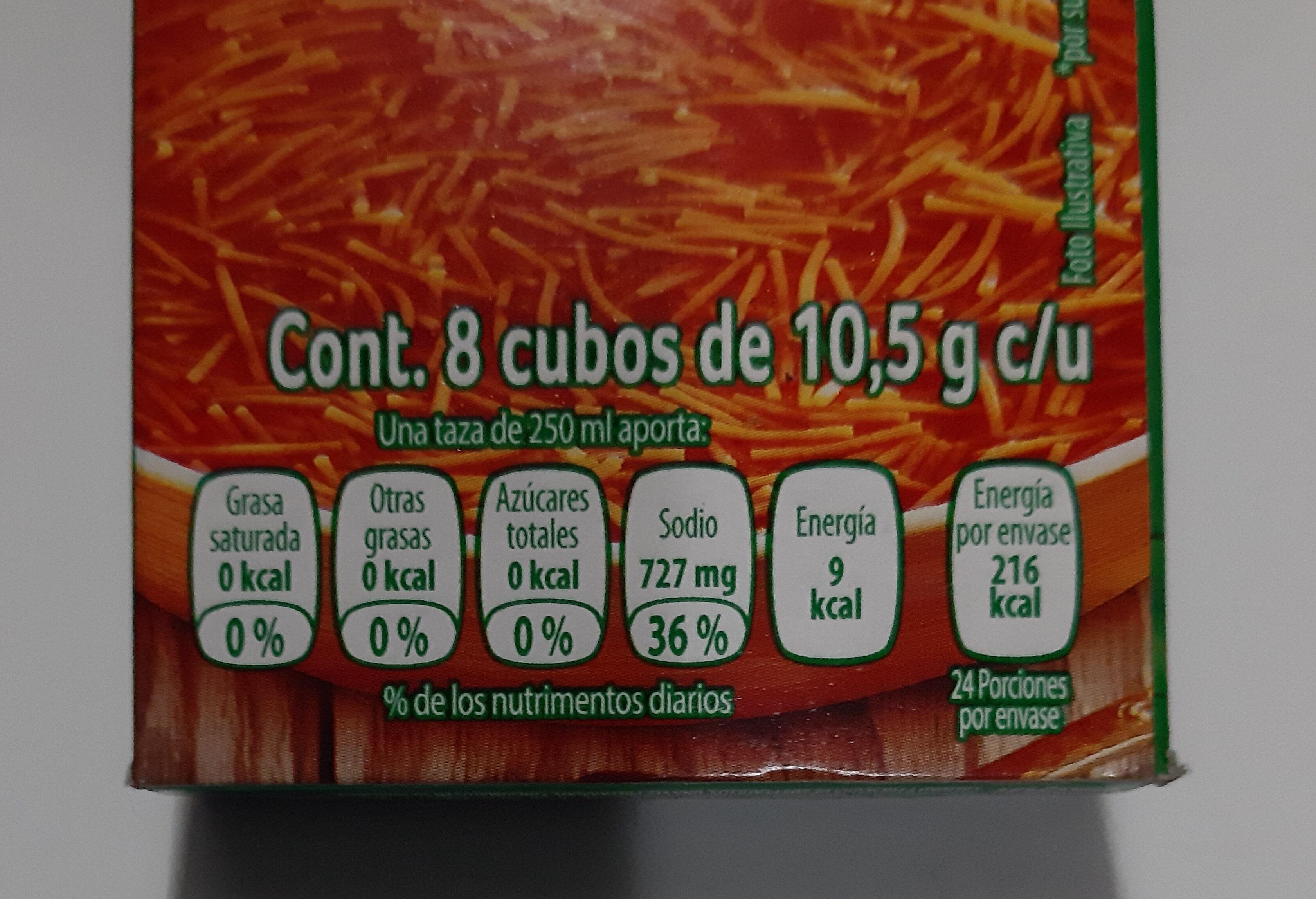 sazonador de tomate knorr - Información nutricional - es