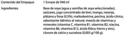 Ades soya con jugo de frutas tropicales - Ingrédients - es