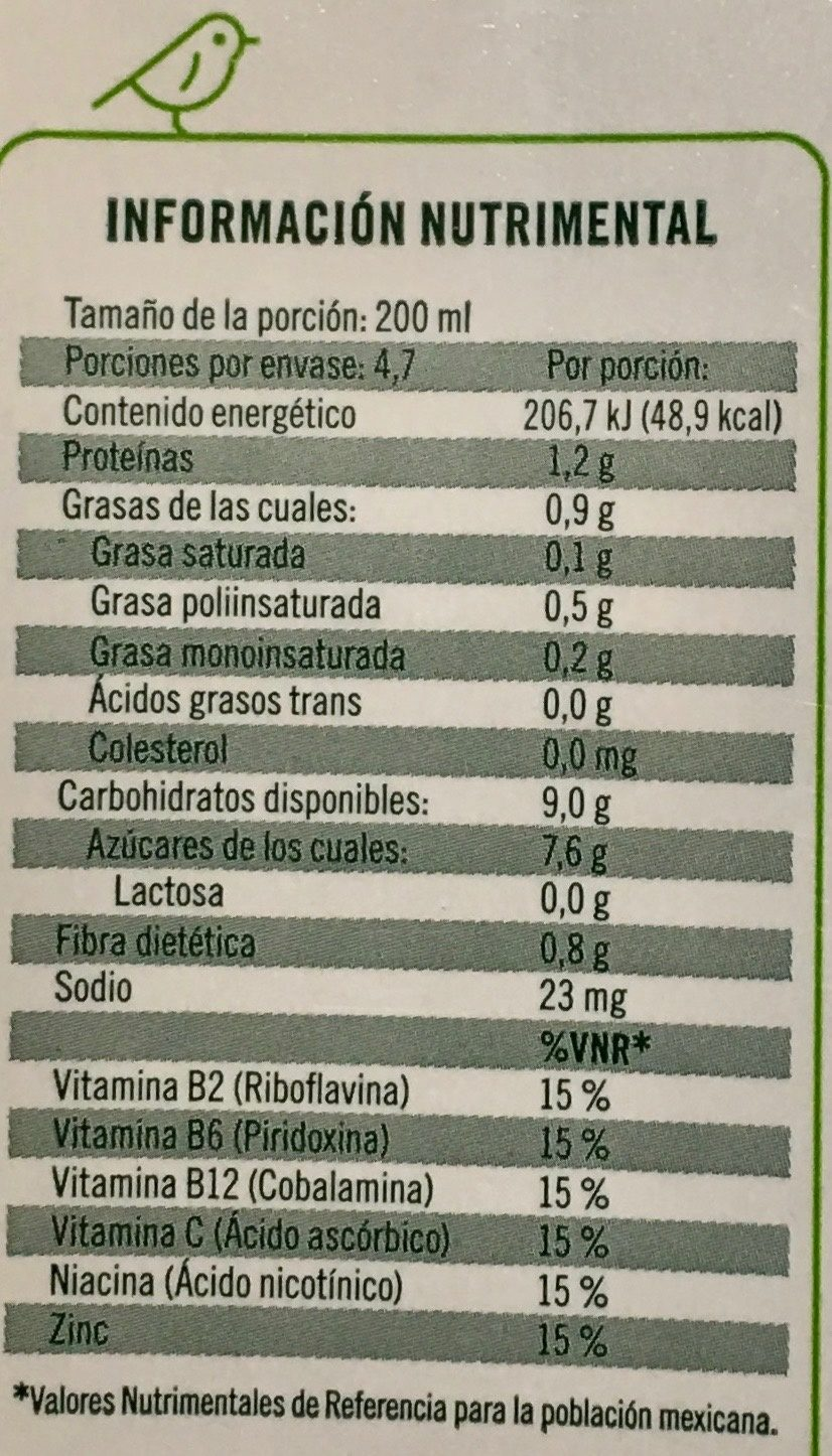 Ades soya con jugo de frutas tropicales - Informations nutritionnelles - es