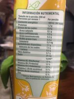 Soya + Jugo de fruta (durazno) - Información nutricional - es