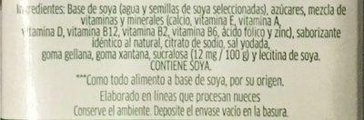 Alimento líquido de soya sabor coco - Ingredientes - es