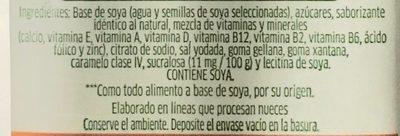 Leche de soya sabor nuez - Ingredients