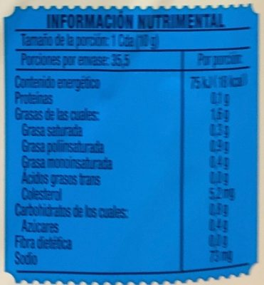 Mayonesa Light Hellmann's - Informations nutritionnelles - es