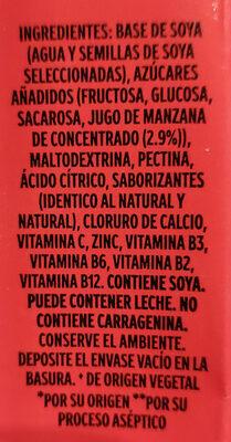 Soya + Jugo de manzana - Ingredientes - es