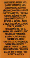 Soya + Jugo de naranja - Ingredientes - es