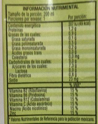Ades Max - Valori nutrizionali - es