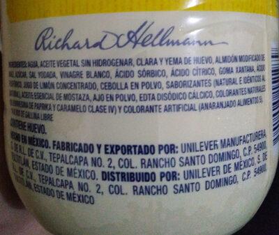 Mayonesa Hellmann's Clásica - Ingredients - es