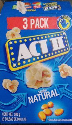 Act II 3 pack sabor natural - Produit - fr
