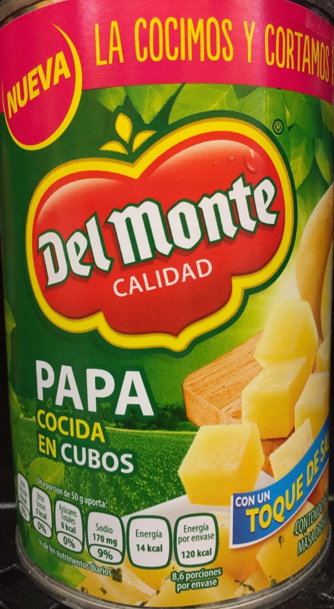 Papa cocida en cubos Del Monte - Produit
