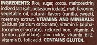 Choco krispis - Ingrédients