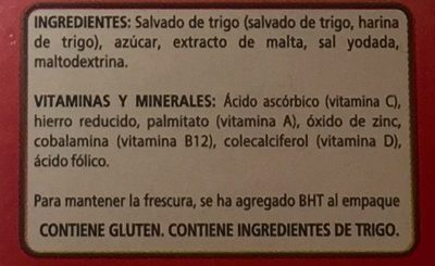 ALL BRAN ORIGINAL - Ingredientes - es