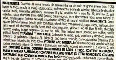 Choco Krispis CuboX - Ingrédients