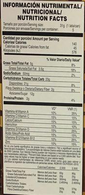 Choco Krispis CuboX - Informations nutritionnelles