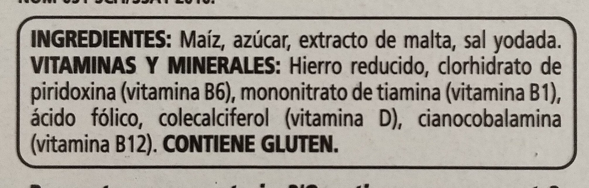 Corn Flakes - Ingrédients