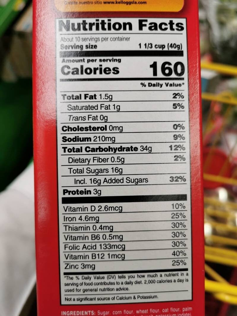 Froot Loops - Nutrition facts