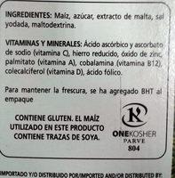 Cereal Corn Flakes Kelloggs 300GR - Ingredientes - es