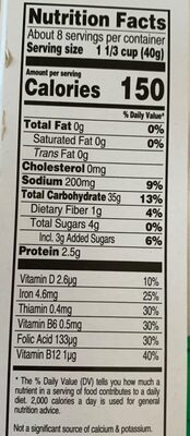 Cereal Corn Flakes Kelloggs 300GR - Información nutricional - es
