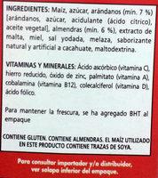 Extra - Arándanos - Ingrediënten - es