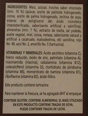 Extra chocolate con almendras - Ingredientes - es