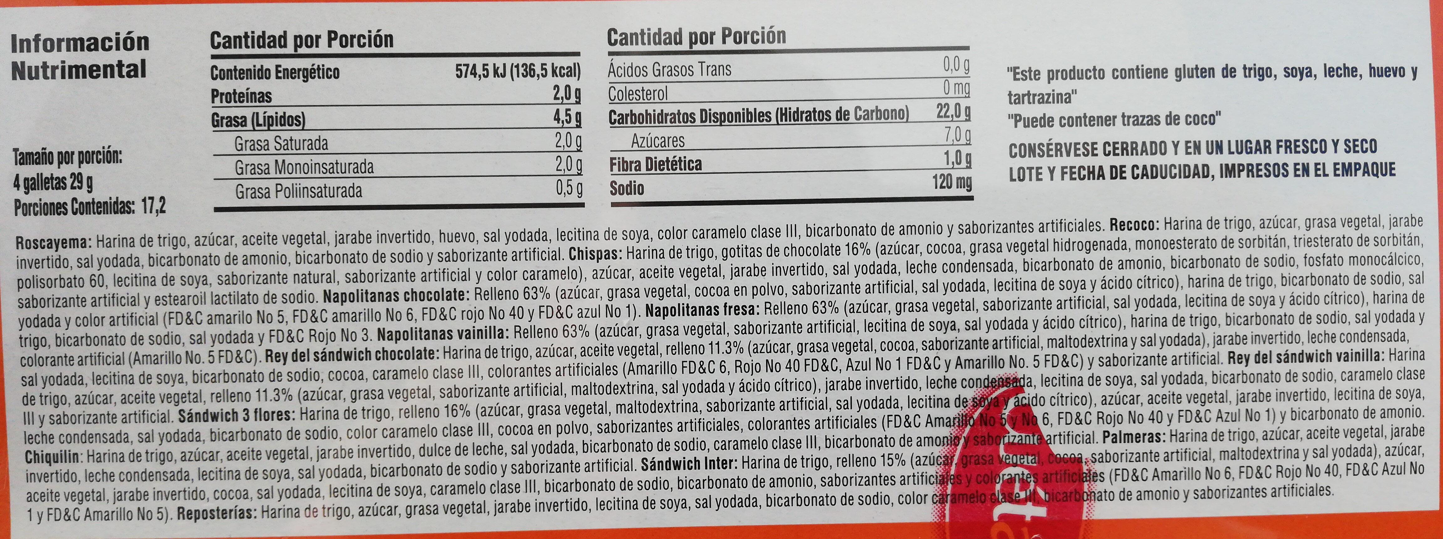 Galletas Surtido Diario - Ingrediënten - es