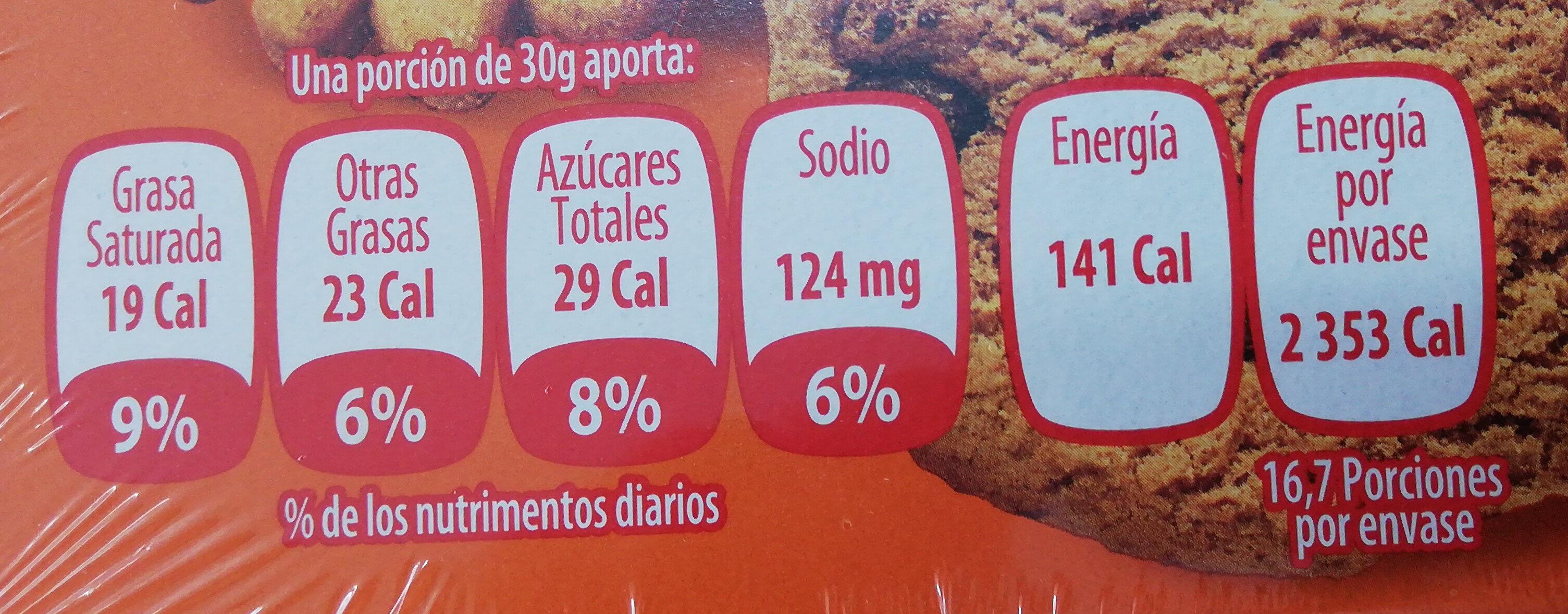 Galletas Surtido Diario - Voedingswaarden - es