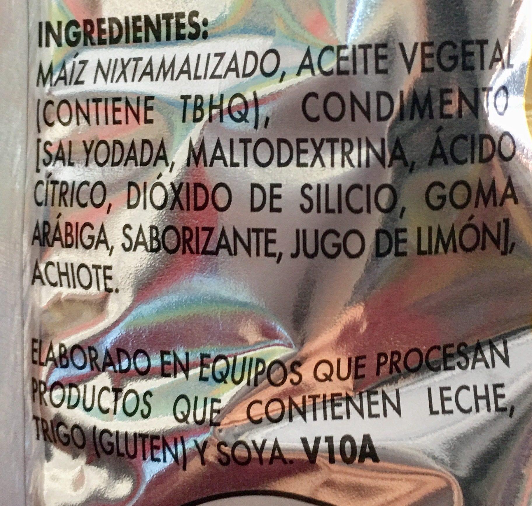 Frit-os Limón y Sal - Ingredients - es