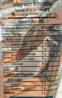 Frit-os Limón y Sal - Nutrition facts - es