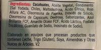 Cacahuate frito enchilado - Ingrediënten
