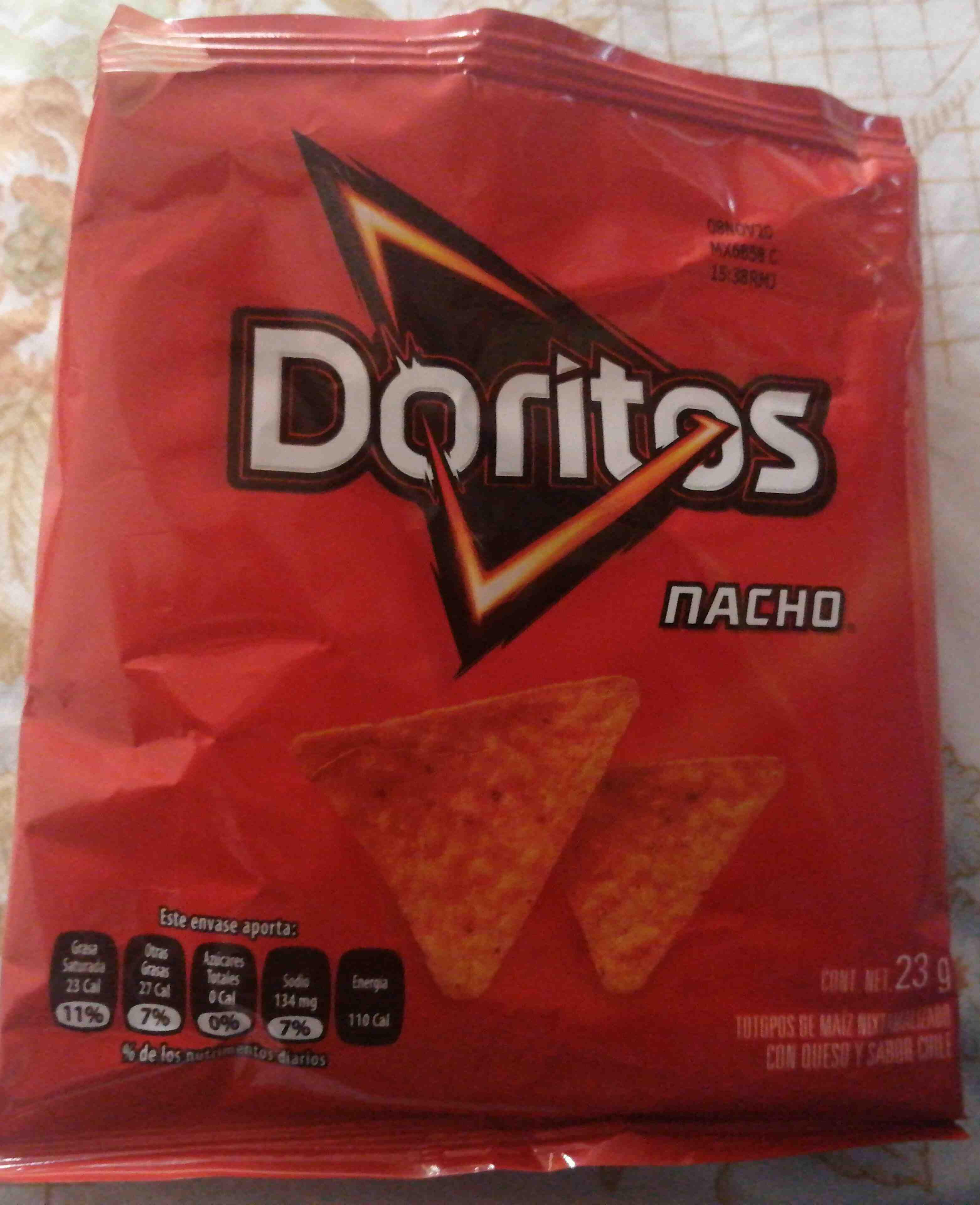 Doritos nacho 23g - Producto - en