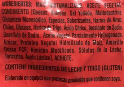 Doritos Nachos - Ingrédients - fr