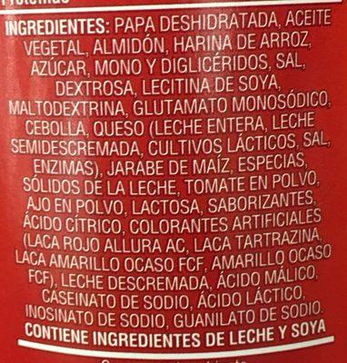 Patatas Sabrita pizza - Ingrédients - es