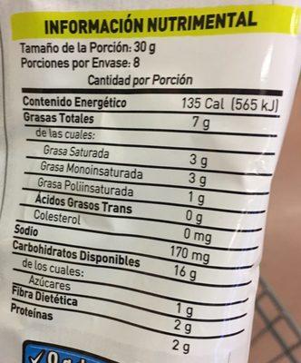 Tostitos Salsa Verde - Informations nutritionnelles - es