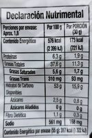 Cheetos Torciditos - Información nutricional - es