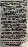 Cheetos Bolitas - Ingrediënten - es